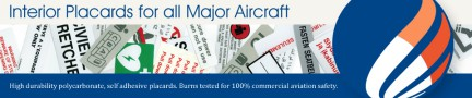 Interior placards for all major airliners